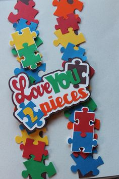 I had a request to make something for autism awareness...children with autism. CM had two different puzzle piece punches, I used them to create this layered strip for a border, and created a title with a space for a punched out piece