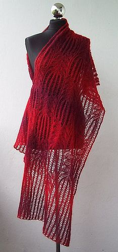Ravelry: Flaming Flowers stole pattern by Dagmara free