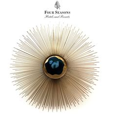 Custom Made To Order Design: Elegant Polished Blue Agate Starburst Wall Light * Brass * E14 * Dia: 20 inches * Custom Sizes Available * InStyle Decor & Philpotts Interiors Hotel Installation * Featured @ Four Seasons Hawaii