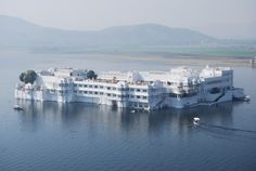 Taj Lake Palace, India  A majestic hotel in the middle of a lake, with an air of royalty