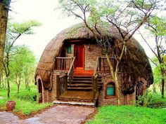 Dome Rondavels, Serengeti National Park, Tanzania, Africa!