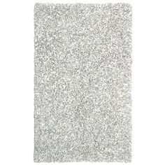 White leather shag rug