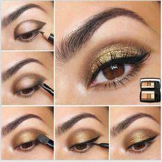 eye shadows gold
