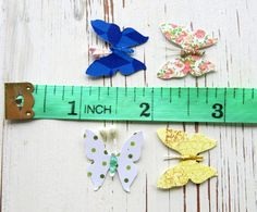 punched paper butterflies with antennae / 100 by itsaMessyNest