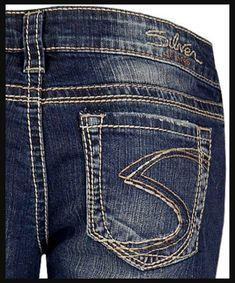8d983015 SILVER JEANS CAPRIS Low Rise Frances Cropped Cuffed Crop Stretch Jean Plus  18
