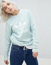 adidas Originals | adidas Originals - Felpa oversize crema con trifoglio
