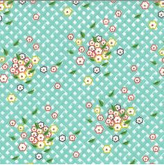 Bouquet Fabric  Flora Flower Lattice by FeatheredNest97030 on Etsy, $4.25