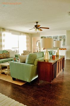 1970s Living Room Makeover | See the transformation of this fun space in a quirky 1970 fixer upper. 1970s Living Room, Retro Living Rooms, Interior Design Living Room, Living Room Designs, Modern Living, Interior Decorating, Decorating Ideas, 70s Home Decor, Home Decor Bedroom