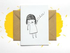 Say a big hello with this very little greetings card