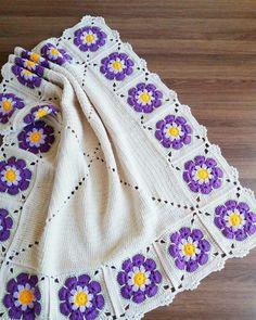Tığ İşi Kolay Nergis Çiçeği Yapımı 🌼/ НАРЦИСС крючком ЛЕГКО И БЫСТРО / Crochet Daffodil Flower Crochet Potholder Patterns, Crochet Bedspread Pattern, Crochet Quilt, Granny Square Crochet Pattern, Crochet Squares, Knit Or Crochet, Baby Knitting Patterns, Baby Blanket Crochet, Easy Crochet