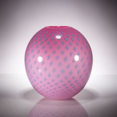 Poko Vase by Andrew Iannazzi. These blown glass vases are decorated with the artist's striking