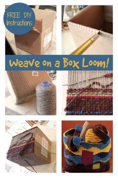 This kid-friendly project allows you to weave bags of any size on boxes. Detailed instructions in the free eBook! Weaving For Kids, Weaving Projects, Weaving Patterns, Free Ebooks, How To Introduce Yourself, Spinning, Loom, Weave, Boxes