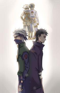Hatake Kakashi and Uchiha Obito (sorrow)