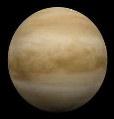 Venus - swathed in reflective white clouds which make this the brightest of all planets