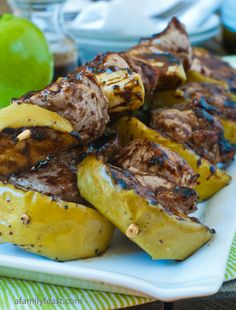 Pork-Apple Skewers with an Orange Balsamic Glaze - this meal is fantastic!