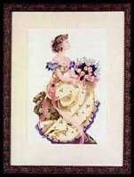 """SALE! COMPLETE XSTITCH KIT """"SPRING QUEEN MD34"""" by Mirabilia"""