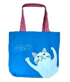 4570c025f85b Blue Cat Tote Bag - Buy online Canvas Tote Bags in India  BlueCatToteBag   CanvasToteBags