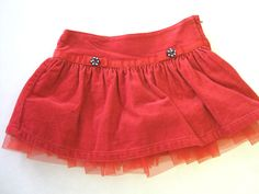 Baby Girl Skirt 18/24 M Months Gymboree Red Corduroy CLEARANCE SALE