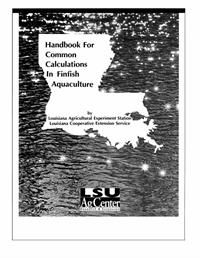 This handbook serves as a quick reference or guide to aid in understanding and solving problems that require calculations. Aquaculture involves problem solving and knowing how to perform various calculations correctly. This capability can translate into economic benefits and sound management decisions. (PDF Format Only)
