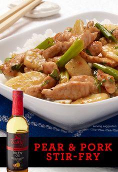 Pear & Pork Stir-Fry | HOUSE OF TSANG®