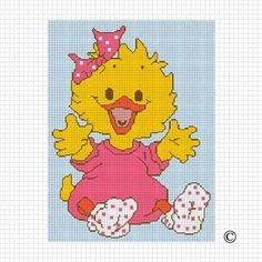 COZYCONCEPTS BABY GIRL DUCK CROCHET AFGHAN PATTERN GRAPH EMAILED .PDF