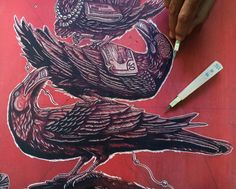 De regreso con a este grabado.  Back at it with his linocut. #linocut #printmaking #mazatl #graficamazatl #estudiomitl #apcrecords #handmade #illustration (at Hermosillo, Mexico)