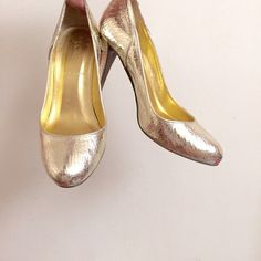 j. crew • gold pumps A tad big on me J. Crew Shoes Heels