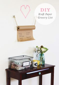DIY Kraft Paper Grocery List