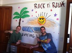 Pabli y Fer con su obra de arte! Rock n' Roll yeeeeeeeah! ;)
