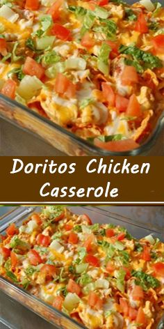 Ingredients: cooked chicken breasts, shredded or chopped olive oil, for chicken salt and pepper for chicken 20 Doritos (any kind) crushed 2 cans of cream of chicken soup ff) ¾ cup Milk Chicken Wing Recipes, Beef Recipes, Mexican Food Recipes, Cooking Recipes, Recipies, Chicken Casserole, Casserole Dishes, Casserole Recipes, Cooked Chicken