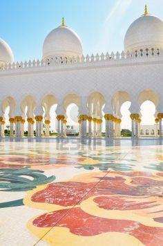 Detalle de la mezquita Sheikh Zayed  Abu  Dhabi