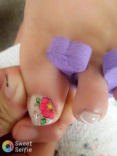 Pink yellow green toes Toenail Art Designs, Pedicure Designs, Pedicure Nail Art, Toe Nail Art, Manicure, Summer Toe Nails, Pink Yellow, Small Tattoos, My Nails