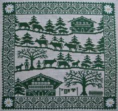 la_poya Cross Stitch Borders, Cross Stitch Samplers, Cross Stitch Charts, Cross Stitch Designs, Cross Stitch Embroidery, Kids Stockings, Theme Noel, Sewing Stitches, Stitch 2