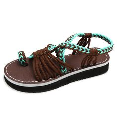 97a3be477 Casual Bohemian Style Sandals - Brown   US size