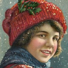 Vintage Christmas Image – Boy in Snow