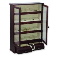 Drew Walnut Finish Jewelry Cabinet