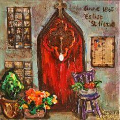 Red door by Karien Boonzaaier South African Art, Artists, My Favorite Things, Red, Painting, Puertas, Board, Painting Art, Paintings