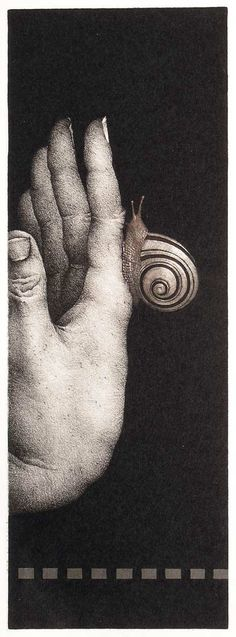 Ex-Libris by Russian-born Czech artist Marina Richterová