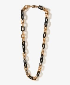 Rhinestoned Link Necklace | FOREVER21 - 1027704981  https://allmouthandtrousers.wordpress.com/