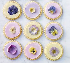 Recipes Sugared flower shortbreads | Recipes Cake US - UA - ASIA   These delicate shortbreads make a perfect gift. Given a floral hint with rosewater, you could also use orange blossom extract or dried lavender