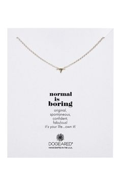 Sterling Silver Normal Is Boring Necklace by Dogeared on @nordstrom_rack