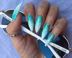 In search for some nail designs and ideas for your nails? Here's our list of 34 must-try coffin acrylic nails for trendy women. Hair And Nails, My Nails, Nail Lacquer, Mermaid Nails, Manicure Y Pedicure, Super Nails, Nagel Gel, Fabulous Nails, White Nails