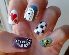 Alice in Wonderland Nails | Photos | She Said Beauty