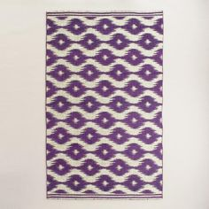 Tufted of 100% nylon with a low pile, our high-performance area rug is printed with a bold ikat design that adds visual interest to any room. This soft, easy-care and affordable rug is a great choice for high-traffic areas.