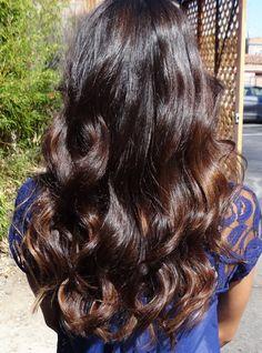 warm brunette hair color. Obsessed.