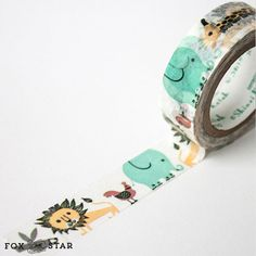 Animal Washi Tape by Shinzi Katoh  Design 'Noar' by foxandstar, £2.85