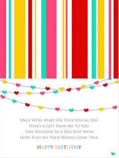 Send A Birthday In Box Gift Card Free Printable Kids