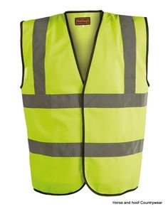 Progressive Safety Hi Viz Waistcoat Conforms to EN471 Class 2 Polyester Fabric Hook and loop front
