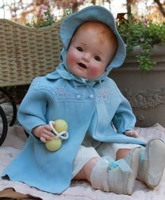 Composition and cloth, Antique, Vintage, Old Baby Doll