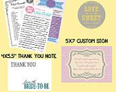 PRINTABLE Bridal Shower, Baby Shower Party Collection: Flower Bursts -- CUSTOM